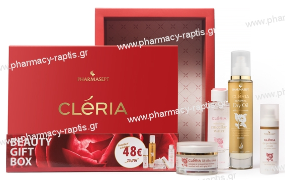 Cleria Beauty Gift Box (Lift Effect 50ml & Eye 30ml & Dry Oil 100ml & Micellar Water 100ml)