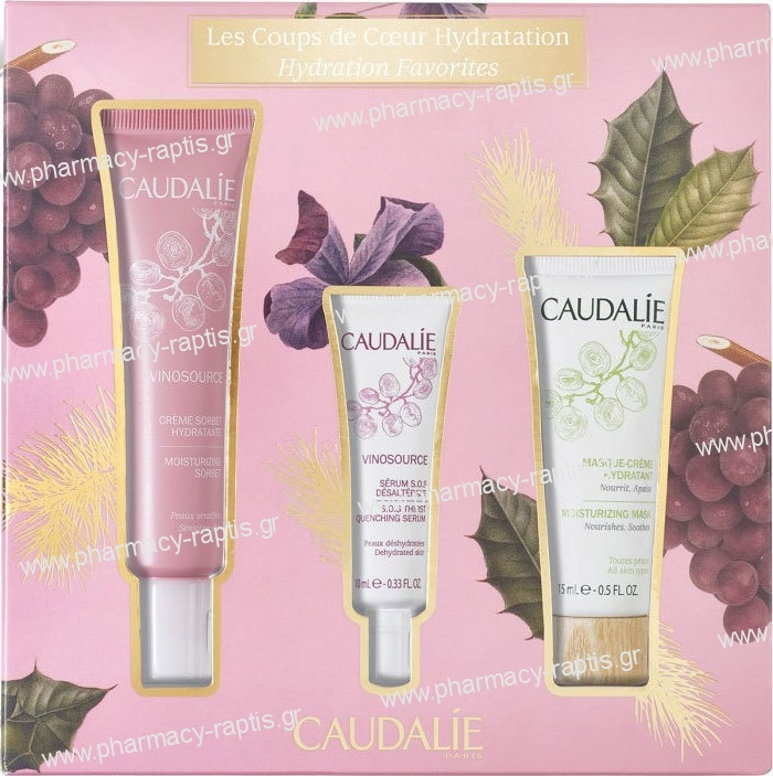 Caudalie Vinosource Set Vinosource Moisturizing Sorbet - Ενυδατική Και Καταπραϋντική κρέμα, 40ml & Vinosource S.O.S Thirst Quen.