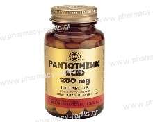 Solgar Pantothenic Acid 200mg tabs 100s
