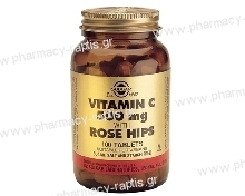 Solgar Vitamin C με Rose Hips 500mg tabs 100s