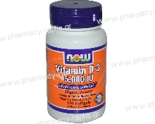 Now Foods Vitamin D-3 5000IU 120 S.Gels