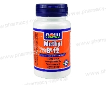 Now Foods Methyl B-12 1000mcg Methylcobalamin 100 Lozenges