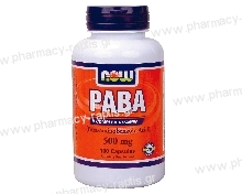 Now Foods PABA 500mg 100 caps (Para-aminobenzoic Acid)