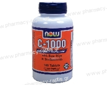Now Foods Vitamin C-1000 (with ROSE HIPS & Bioflavonoids) 100tabs
