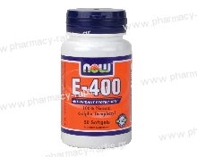 Now Foods E-400 IU 50 S.Gels (d-a-tocopherol)