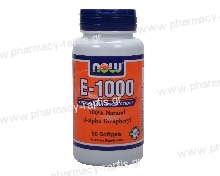 Now Foods E-1000 IU (D-Alpha Tocopheryl Acetate) 50 Softgels