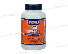 Now Foods Red Omega 90 Softgels (Salmon Oil 1000 mg, Co-Q10 60 mg, Organic Red Yeast Rice)