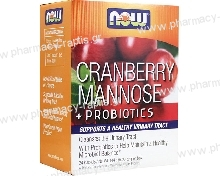 Now Foods Cranberry Mannose + Probiotics 24 φακελάκια