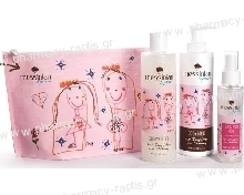 Messinian Spa Daughter & Mommy Shower Gel 300ml And Body Milk 300ml And Hair & Body Mist 100ml Free Gift Cosmetic Bag