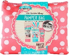 Dirty Works Pamper Bag Body Wash 200ml Body Butter 200ml & Hand Cream 75ml 3pcs