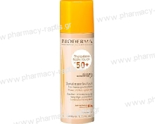 Bioderma Photoderm Nude Touch SPF50+ Natural Tint Αντιηλιακό Προσώπου Με Χρώμα Φυσική Απόχρωση 40ml